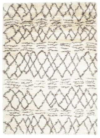 Berber style Shaggy Fence - White Grey carpet RVD5555 340x240 cm - Buy your carpets at CarpetVista £437