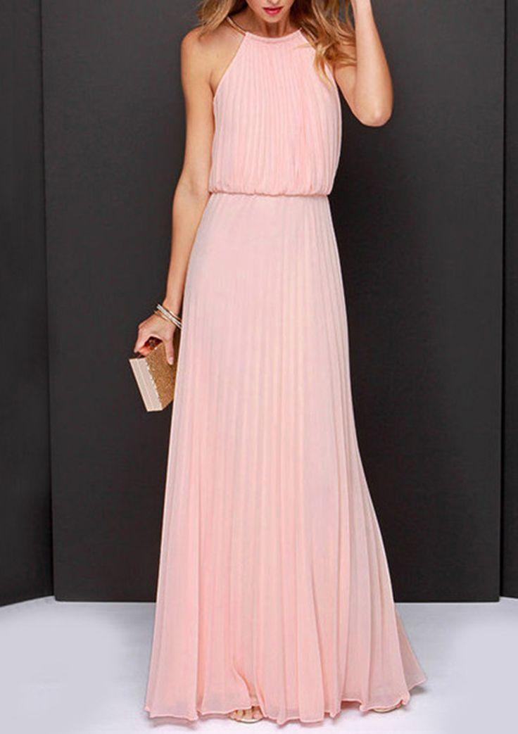 pink pleats