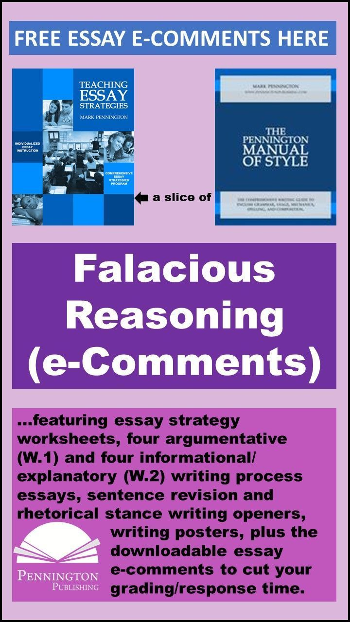 The Top 15 Errors In Reasoning Writing Response Essay Writing Lessons