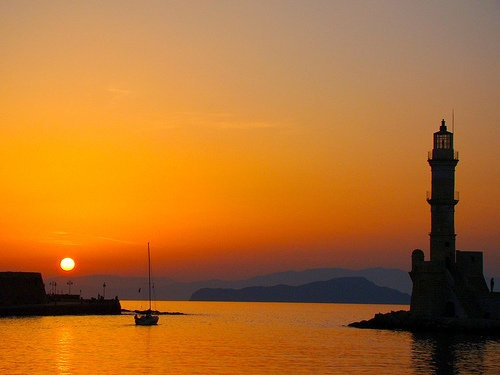 .Chania, old venetian harbour, Crete - Greece
