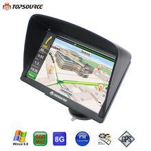 "US $50.40 TOPSOURCE TS08 Navigator 7"" HD vehicle Truck Car GPS Navigation Windows Ce6.0 MSB 2531 ARM Cortex A7 800MHZ 256M 8GB GPS MAP. Aliexpress product"