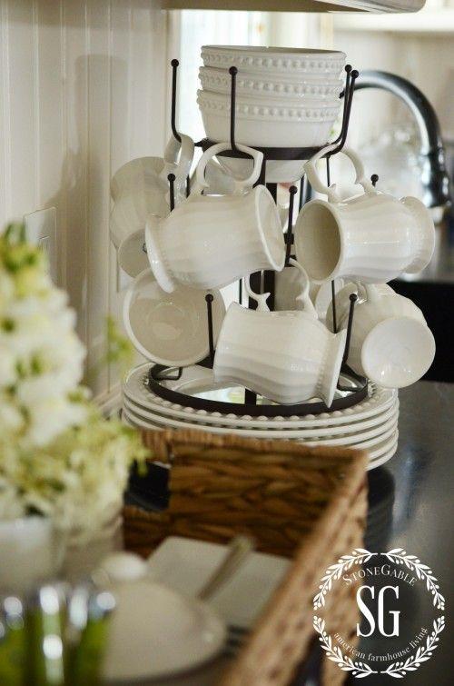 Early Fall Farmhouse Kitchen-bottle dryer-mugs-stonegableblog.com