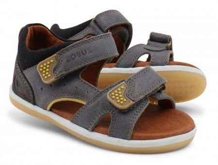 Bobux I-walk Wave Charcoal Sandals - Bobux - Little Wanderers