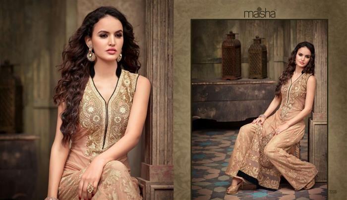 Elegant Sleeveless Indian party wear suit dress