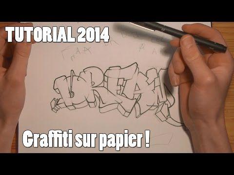 TUTORIAL : APPRENDRE LE GRAFFITI SUR PAPIER (débutant / francais) [HD 1080] - YouTube