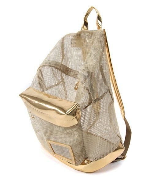 Premium See-through Mesh Backpack with PU Insert
