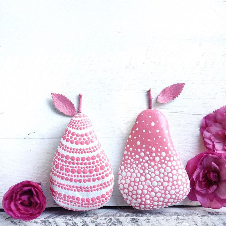 If you need a pretty pink pair of pears in your life, you're in luck then as I have just listed this pink pair of pear rocks in store! Now try and say that 10 times really fast