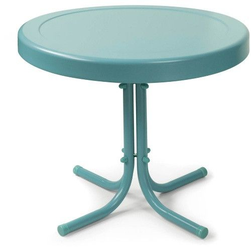 Crosley Retro Metal Side Table - You'll love the retro design and beautiful yet simple look of the Crosley Retro Metal Side Table . Constructed from strong and sturdy steel with...