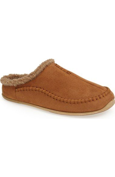 Deer Stags 'Nordic' Slipper (Men) available at #Nordstrom A patented S.U.P.R.O. Sock® provides maximum cushioned comfort in a plush slipper aimed at those with chronic foot fatigue who are looking for some relief.