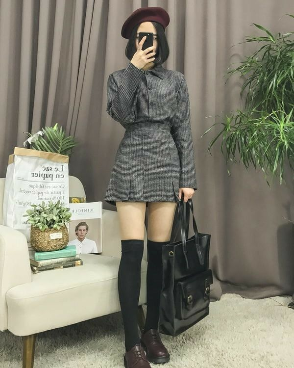Girly Classic Clothing Inspire Stylish Fall 2021 Sweet Japanse Fashion Tiktok Highschool Korean Street Fashion Korean Fashion Korean Outfits