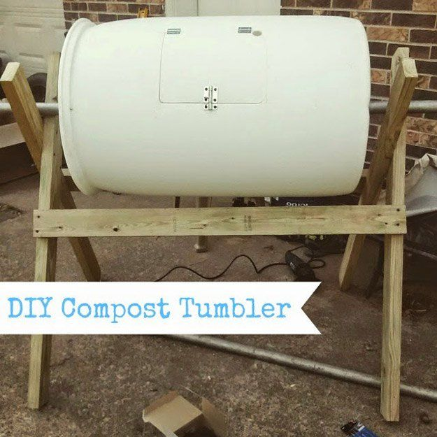 17 best ideas about Diy Compost Tumbler on Pinterest Compost
