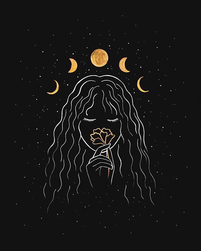 Virgo Selfcare Spiritual Moon Art Aesthetic Art Art Wallpaper