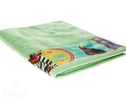 Купить полотенце детское с бордюром МАДАГАСКАР Марти зеленое 50х90 от производителя Непоседа (Россия)