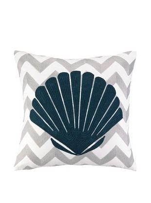 48% OFF Peking Handicraft Seashell Embroidered Chevron Pillow