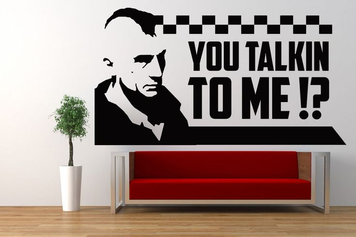 Taxi Driver Quote, Movie Film Vinyl Wall Art Sticker Mural Decal, Classic Travis