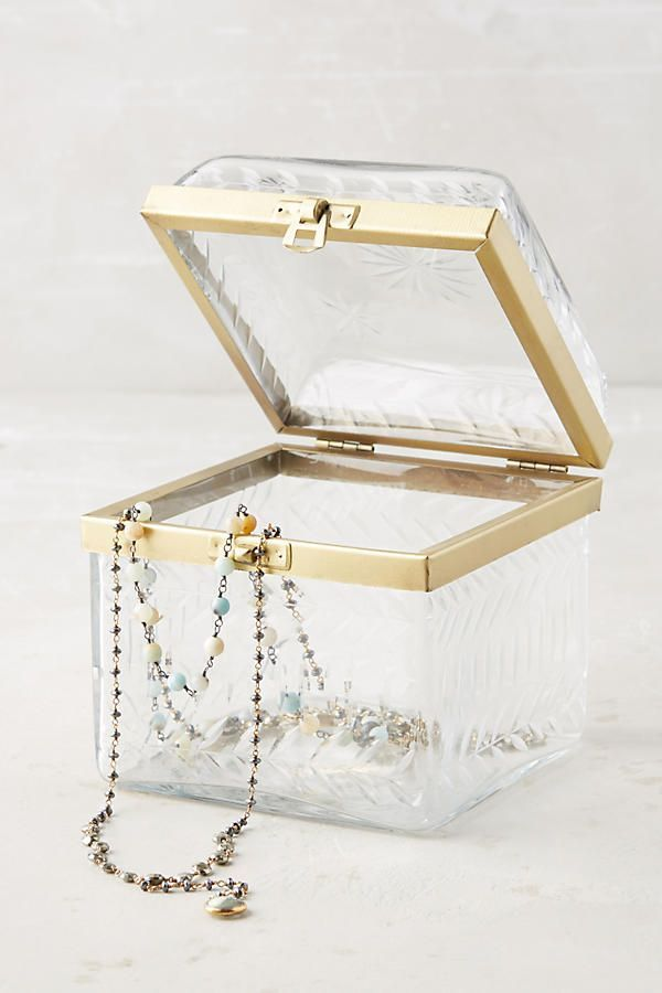Slide View: 1: Etched Glass Jewelry Box