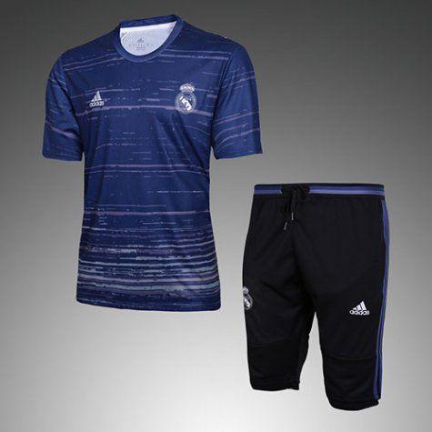 Maillot Survetement Real Madrid 2016 2017 Pattern blue
