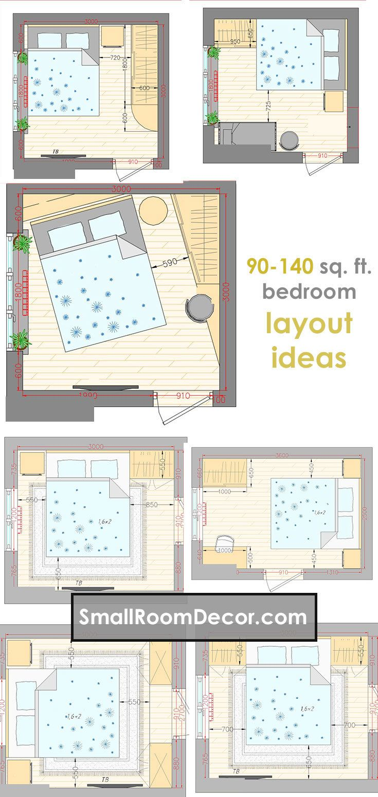 16 Standart And 2 Extreme Small Bedroom Layout Ideas Small Room