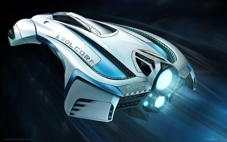 Solrain Style Exploration Picture  (2d, sci-fi, concept art, illustration, ship, automotive)