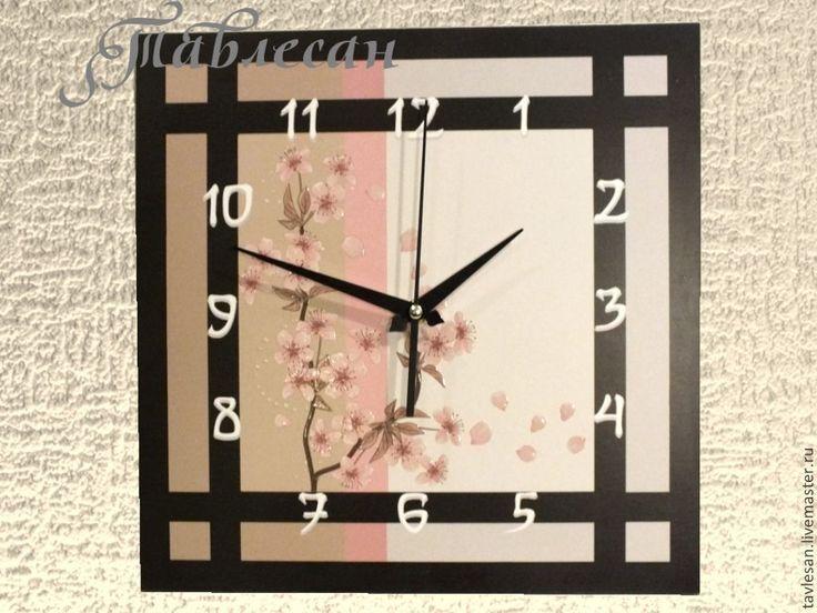 """Купить Часы настенные """"Сакура"""" в японском стиле - часы настенные, часы настенные большие"""