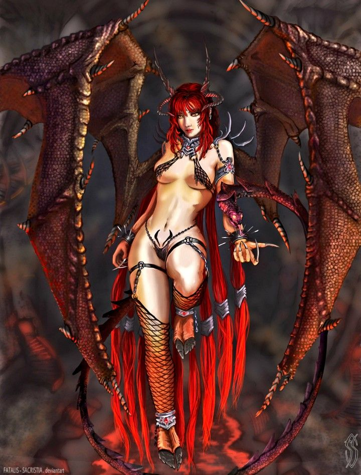 Demon Anime Devil Female, Devil Girl Transparent Background Png Clipart