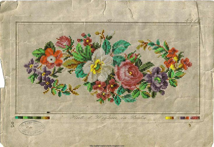 Embroidery Charts:  Free Antique European Designs