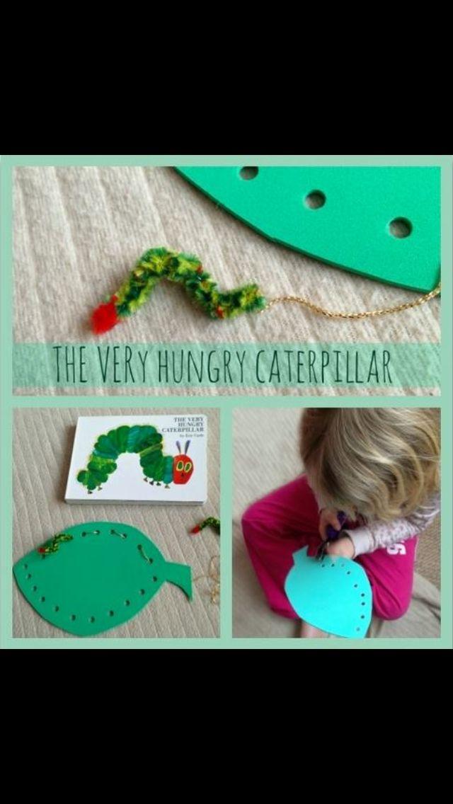 The hungry caterpillar threading