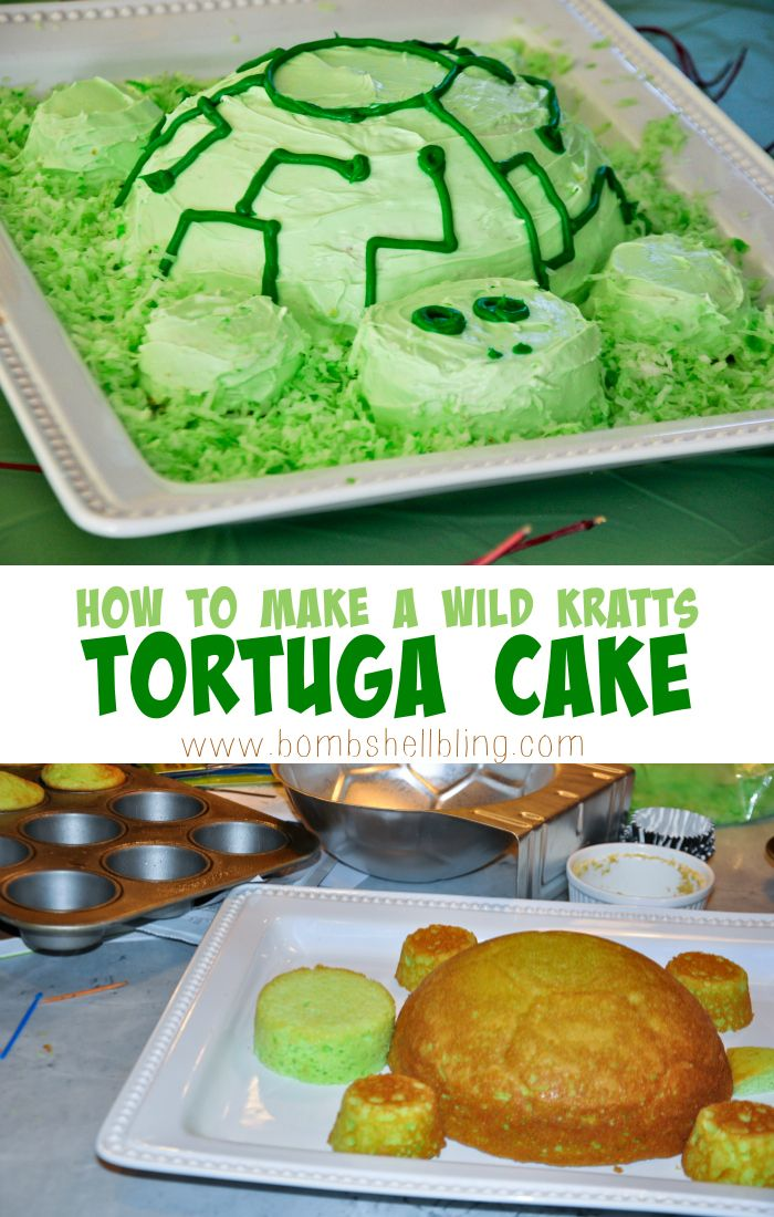 Make a simple Tortuga Cake from the PBS Kids show Wild Kratts.  FUN!  #wildkratts #pbskids