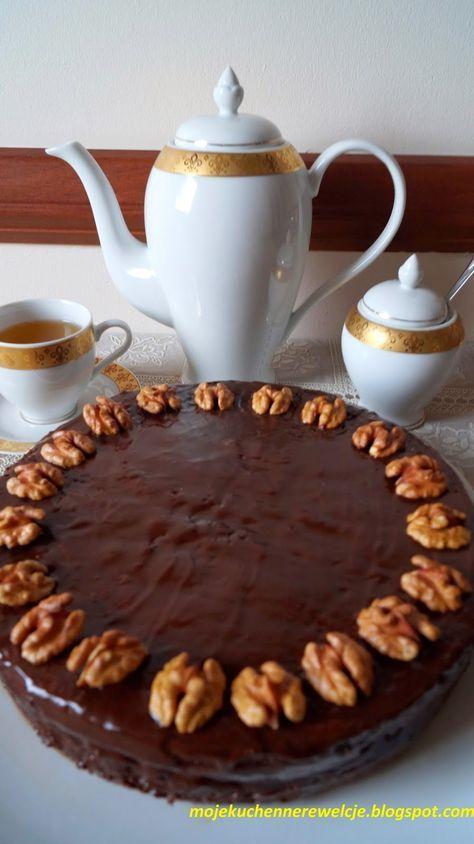 Moje                                                                       Kuchenne Rewelacje  : Tort orzechowy  (bez mąki)