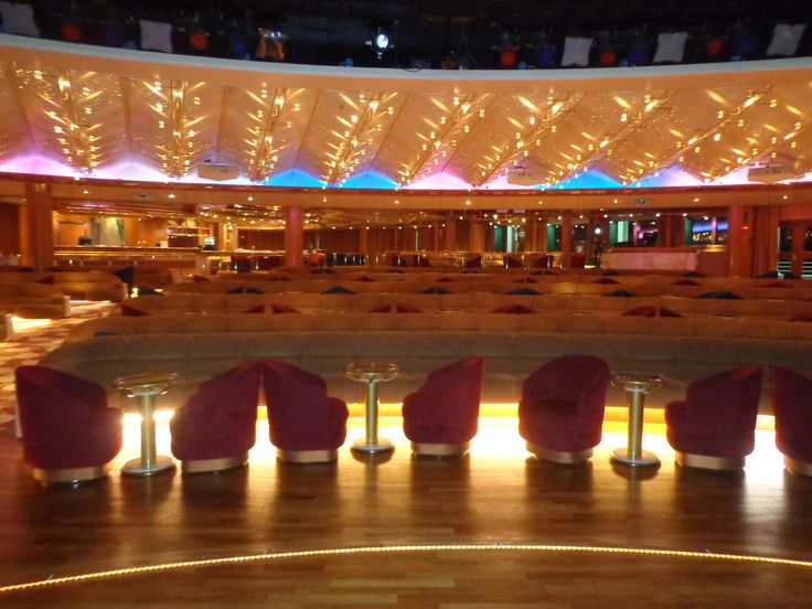 The beautiful Vista Lounge on the Sun Princess. Home to so many great events on the cruise including Bingo and the adults only comedian