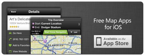 Free Map Apps for iPhone & iPad
