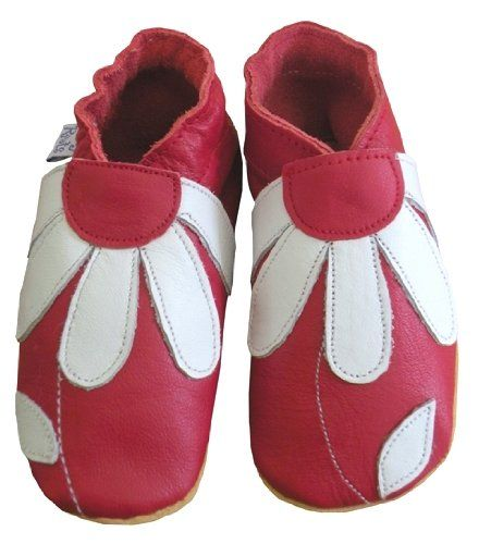 Daisy Roots Red Flower Baby Shoes Soft Leather (Size 6 to 12 months): Amazon.co.uk: Shoes & Bags