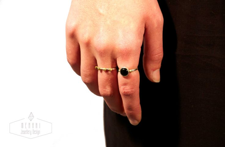 Onyx happiness ring. Happiness ring www.merakijewellerydesign.com