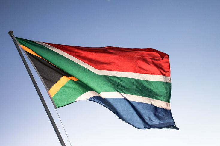 Love the colored flag of South Africa #meetsouthafrica