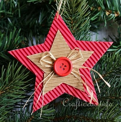 Corrugated Cardboard Christmas Star Ornament 3