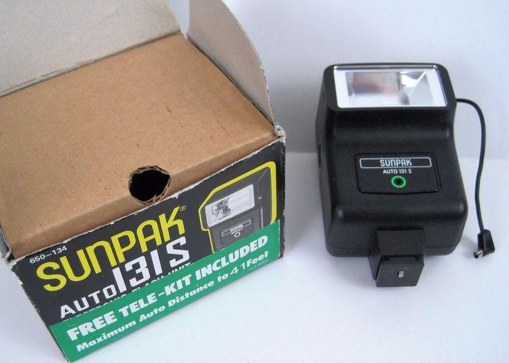 Sunpak 131S Auto Flash with Cord Camera Accessory 1908A 650-134 in Box SLR #Sunpak