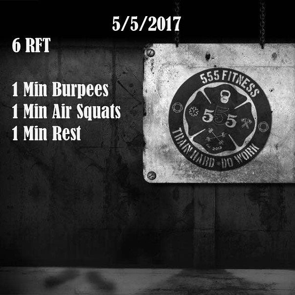 18 min AMRAP: burpees, squats