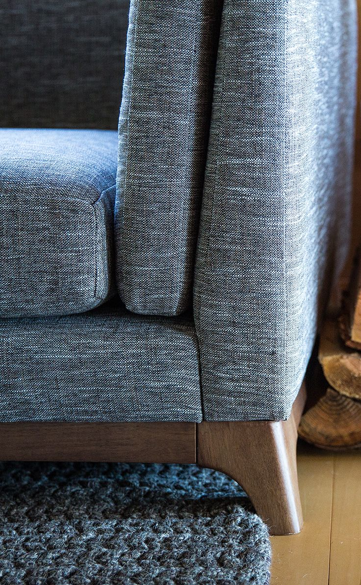 Curved Legs Made Of Solid Oak On Our CENI Sofa.