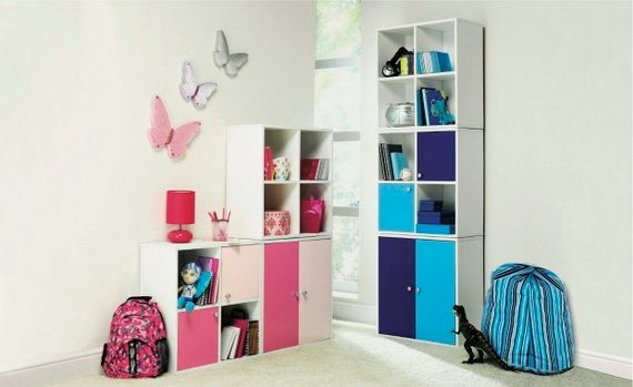 Cool Storage Ideas for Kids' Bedrooms and they are rearrange able too!