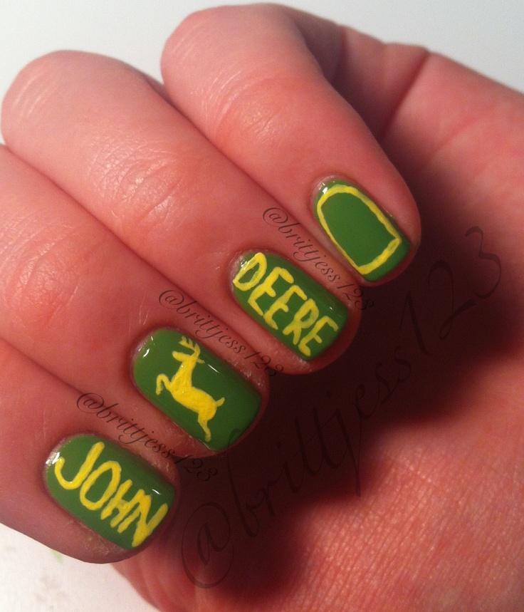 John deere nails! Chubby deer