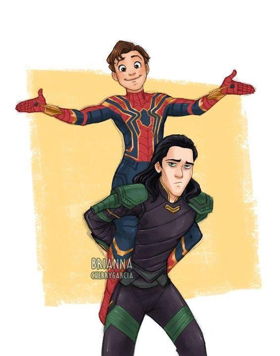 Peter Parker Oneshots (My Own) - A/N:Fanart   Marvel, Loki