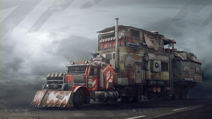 Mobile Base (One Life), Alexandr Gluhachev on ArtStation at https://www.artstation.com/artwork/lE6aG