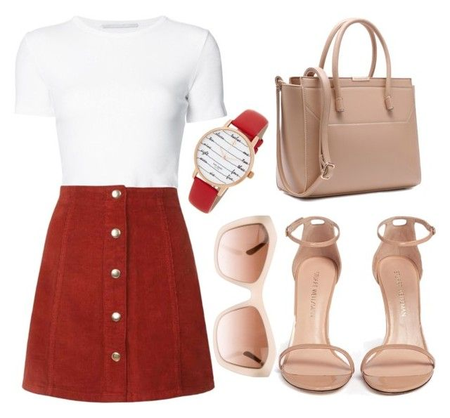 """""""Untitled #013"""" by liaperezmorales on Polyvore featuring Rosetta Getty, Stuart Weitzman, Chanel and Kate Spade"""