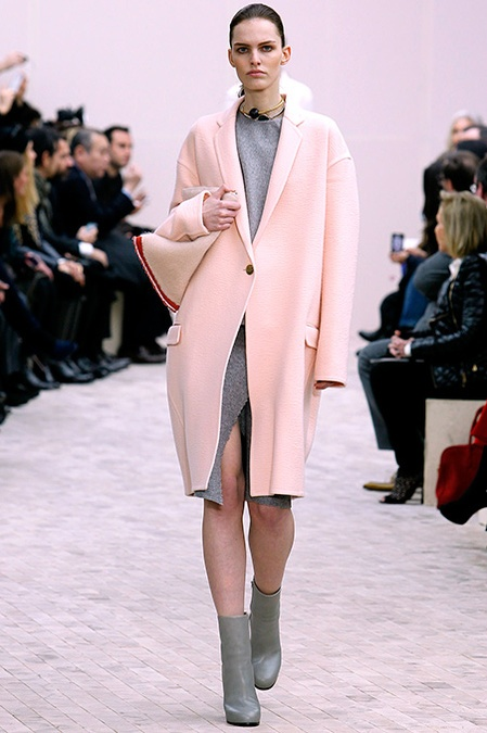Céline Fall 2013: Icy Pink with Dove Grey. Classic. I prefer it with white.
