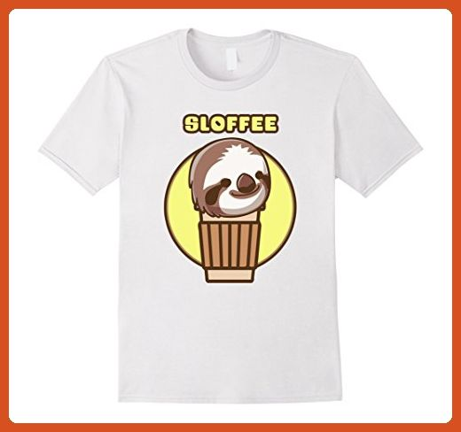 Mens Sloffee Sloth and Coffee Mashup T-Shirt Medium White - Food and drink shirts (*Partner-Link)