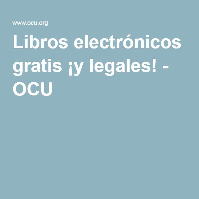 Libros electrónicos gratis ¡y legales! - OCU