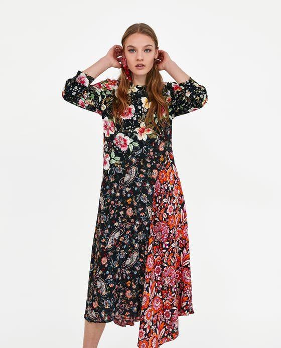 f76ae120b2 Image 2 of PATCHWORK PRINT DRESS from Zara