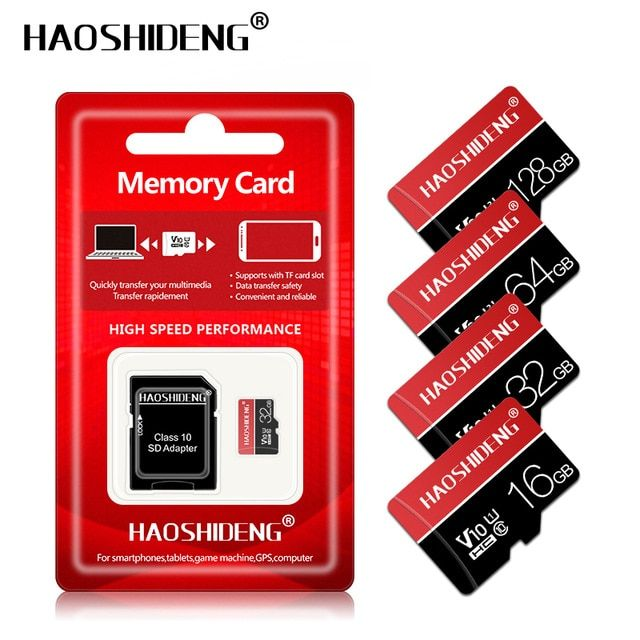 16GB TF Micro SD SDHC Secure Digital High Speed Flash Memory Card Class10 With Adapter