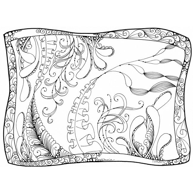 undersea garden coloring page illustrated by marie browning for tombow