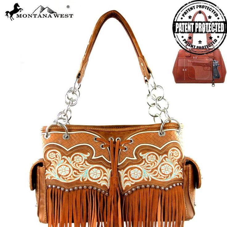 Montana West Handbag NWT Western Style  Cowgirl Bling Purse Brown #MontanaWest #ShoulderBag